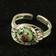 Кольцо финифть Аленький цветочек, фото 1