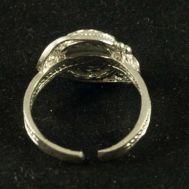 Кольцо финифть Аленький цветочек бежевое, фото 1