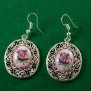 Серьги из финифти Версаль фиолетовые, фото 1