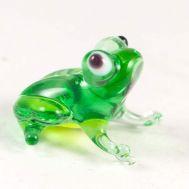 Стеклянная фигурка Лягушка, фото 1