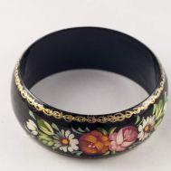 Браслет цветы на черном фоне, фото 1
