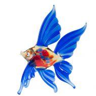 Стеклянная рыбка синяя, фото 1
