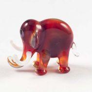 Слоник красный фигурка из стекла, фото 1