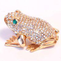 Шкатулка серебрянная лягушка, фото 1