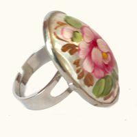 Кольцо свежая роза, фото 1