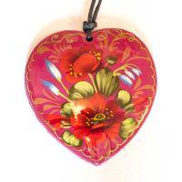Кулон цветы на красном фоне, фото 1