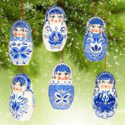 Новогодние украшения Гжель, фото 1