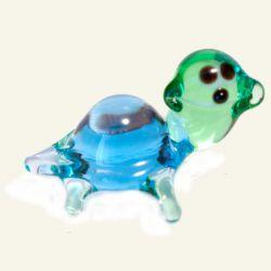 Черепашка стеклянная синяя, фото 1