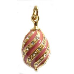 Кулон ажурный розовый, фото 1