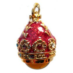 Кулон красный с янтарем, фото 1