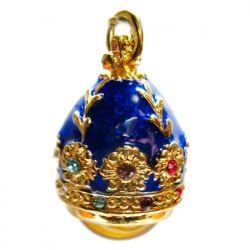 Кулон синий с янтарем, фото 1