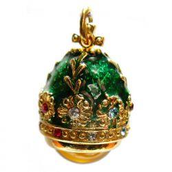 Кулон зеленый с янтарем, фото 1