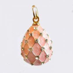 Кулон розовый Сетка, фото 1