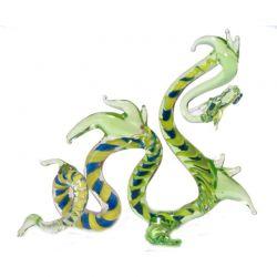 Дракон зеленый стеклянная фигурка, фото 1