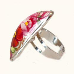 Кольцо красные розы, фото 1