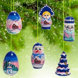 Новогодние елочные игрушки Зима, фото 1