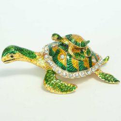 Шкатулка черепаха с черепашонком, фото 1
