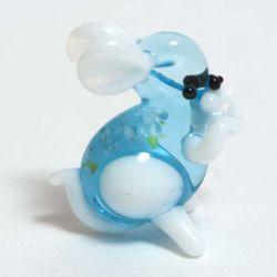 Зайчик фигурка стеклянная, фото 1