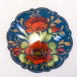 Брошки Маки на синем, фото 1