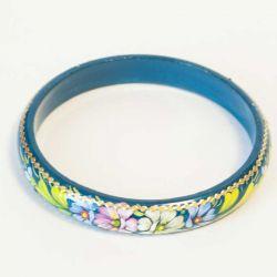 Браслет цветы на синем фоне, фото 1
