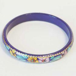 Браслет цветы на фиолетовом фоне, фото 1
