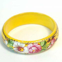 Браслет цветы на желтом фоне, фото 1