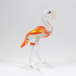 Фламинго фигурка из стекла