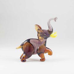 Слоник фигурка стеклянная