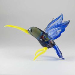 Колибри стеклянная фигурка, фото 1