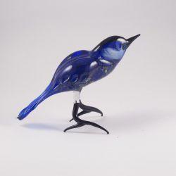 Синяя птица фигурка из стекла, фото 1