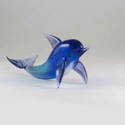 Дельфин фигурка из стекла