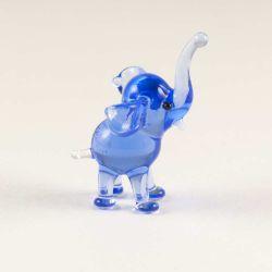 Слон стеклянная фигурка