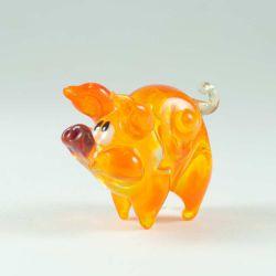 Стеклянная фигурка Свинка