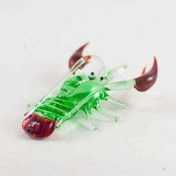 Фигурка из стекла Рак зеленый, фото 1