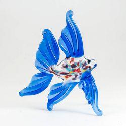 Рыбка синяя фигурка из стекла, фото 1