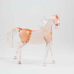 Конь гнедой фигурка стеклянная, фото 1