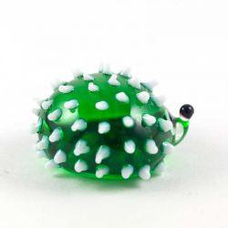 Стеклянная фигурка Еж зеленый, фото 1