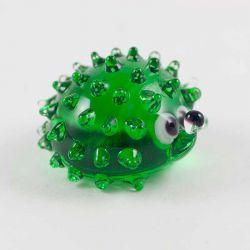 Стеклянная фигурка Еж ярко зеленый, фото 1
