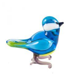 Синичка стеклянная фигурка, фото 1