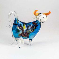 Веселая Корова фигурка из стекла, фото 1