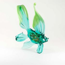 Рыбка зеленая фигурка, фото 1