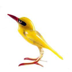Фигурка из стекла Иволга желтая, фото 1
