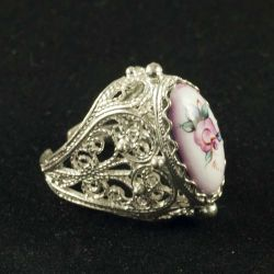Кольцо финифть Сударушка сиреневое, фото 1
