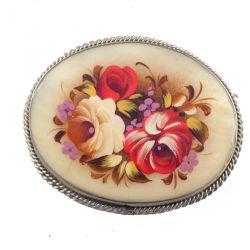 Брошка розовый букет, фото 1