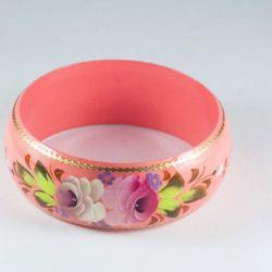 Браслет розовый Цветы, фото 1