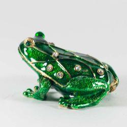 Шкатулка зеленая лягушка, фото 1