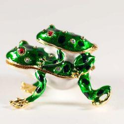 Шкатулка две лягушки, фото 1