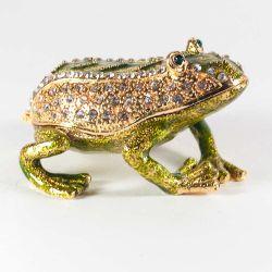 Шкатулка Лягушка зелено-золотая, фото 1