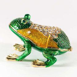 Шкатулка Лягушка зеленая, фото 1