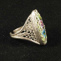 Кольцо финифть Анастасия, фото 1